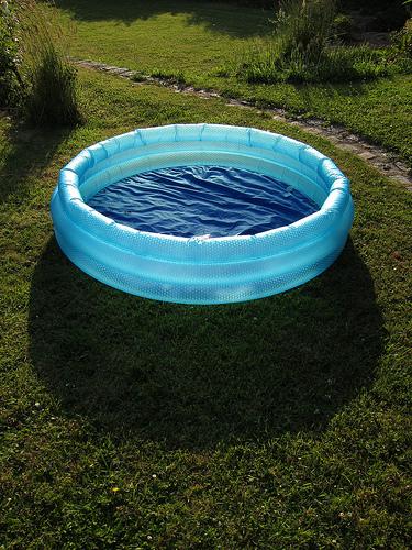 chien gonflable pour piscine